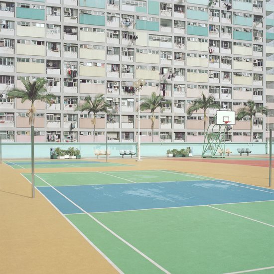 Where have all the players gone? Alluring, colourful sports areas surrounded by dwellings yet left vacant. See more here - http://www.wardrobertsphoto.com/index.php?/courts/