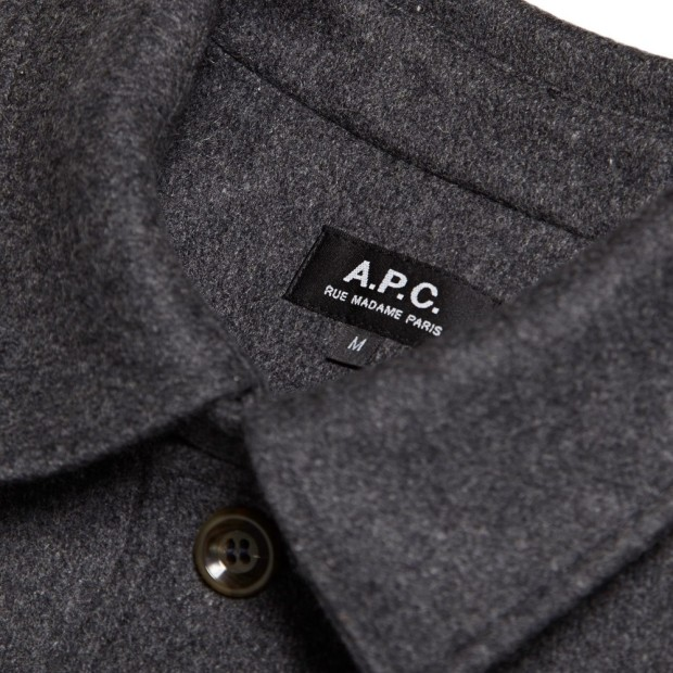 The coat of the 13/14 winter season, the Raglan-back mac with woollen cloth by Jules Tournier et fils. See more here - http://www.apc.fr/wwuk/men/coats/raglan-back-mac-in-thick-wool_pFVAAATIP.html