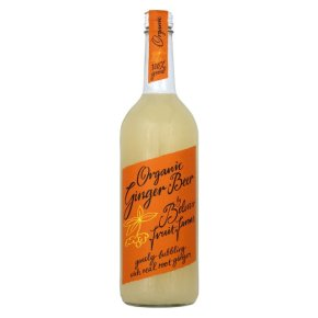 A proper old-fashioned ginger beer. See more here - http://www.belvoirfruitfarms.co.uk/shop/organic-ginger-beer-presse-25