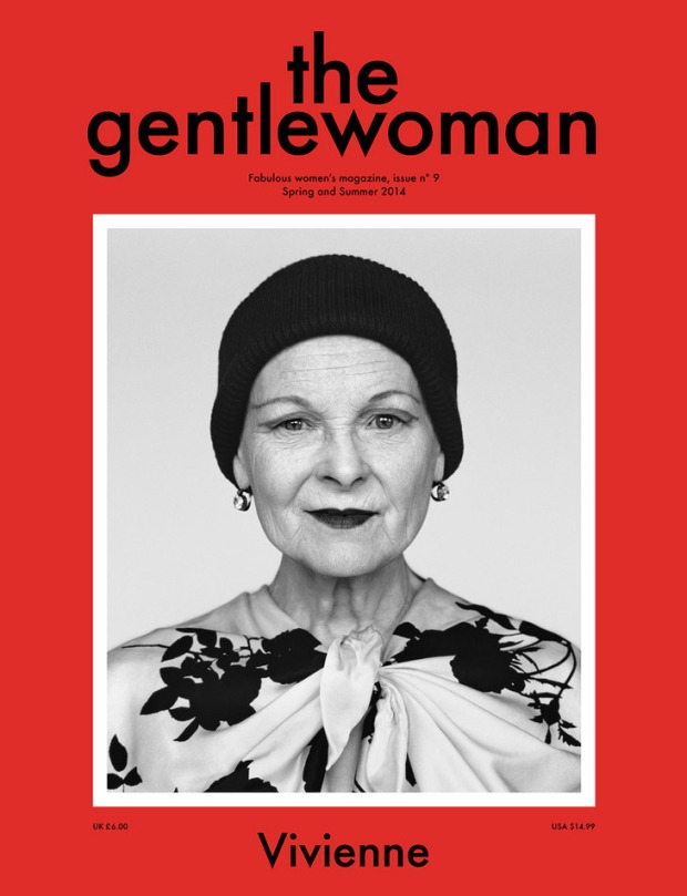 Influential British fashion designer Vivienne Westwood is the cover star for bi-annual women's lifestyle magazine The Gentlewomen's ninth issue. The issue also featuringAnnabelle Selldorf, Camilla Nickerson, Bertha González Nieves, Judy Murray, Cate Le Bon and Verde Visconti. See more here - http://thegentlewoman.co.uk/